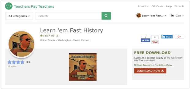 Learn 'em Fast History Teaching Resources | Teachers Pay Teachers 2018-04-30 14-13-07